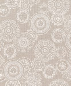 Linnenlook white mandala stof met mandala decoratiestof 1-104530-1779-050