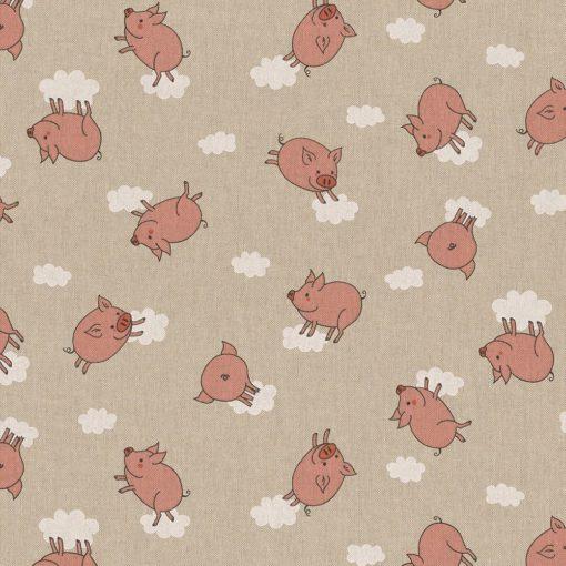 linnenlook stof motief 260 decoratiestof gordijnstof meubelstof printstof stof met bladeren