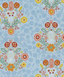 gordijnstof decoratiestof printstof ottoman bloemenstof 1-105030-1698-500
