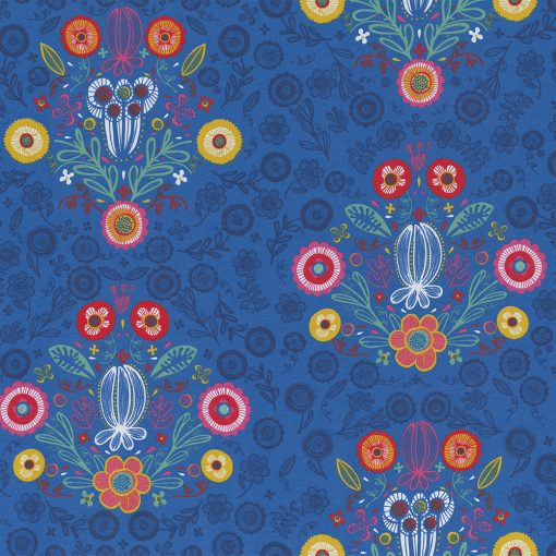gordijnstof decoratiestof printstof ottoman bloemenstof 1-105030-1701-460