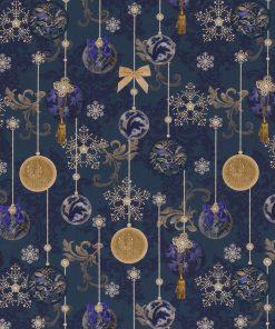 digitale katoenen decoratiestof printstof kerststof gordijnstof Kerststoffen kopen 1-151030-1341-470