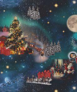 digitale katoenen decoratiestof printstof kerststof gordijnstof Kerststoffen kopen 1-151030-1351-475
