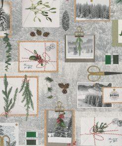 digitale katoenen decoratiestof printstof kerststof gordijnstof Kerststoffen kopen, 1-151030-1358-530