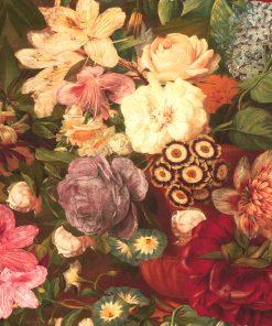 Bedrukte Velvet met bloemen velvet printstof decoratiestof gordijnstof meubelstof velvet stof kopen velours stof kopen fluweel stof kopen 1-152540-1031-655