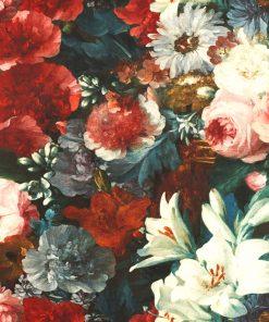 Bedrukte Velvet met bloemen velvet printstof decoratiestof gordijnstof meubelstof 1-152540-1032-325