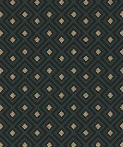 jacquardstof Linked Green meubelstof gordijnstof decoratiestof stof met kubussen 1-201531-1017-545