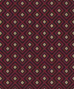 jacquardstof Linked Red gordijnstof decoratiestof meubelstof stof met kubussen 1-201531-1018-325