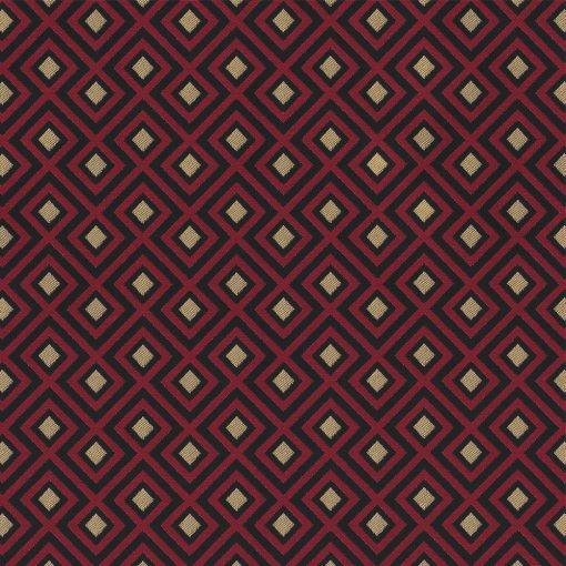 jacquardstof Be Linked Red gordijnstof decoratiestof meubelstof stof met kubussen 1-201531-1018-325
