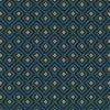 jacquardstof Linked Turquoisegordijnstof meubelstof decoratiestof stof met kubussen 1-201531-1019-495