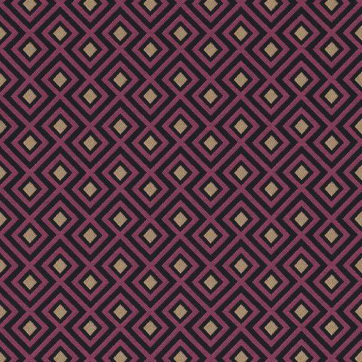 jacquardstof Linked Fuchsia decoratiestof gordijnstof meubelstof stof met kubussen 1-201531-1020-385
