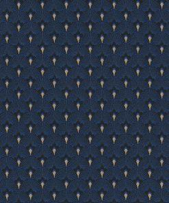 jacquardstof art deco scales cobalt blue 1-201531-1021-465