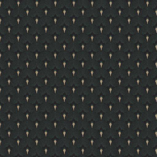 jacquardstof Cool Green gordijnstof decoratiestof meubelstof stof met waaiers1-201531-1022-545