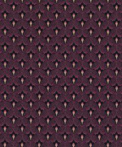 jacquardstof Cool Fuchsia gordijnstof meubelstof decoratiestof stof met waaiers 1-201531-1025-385