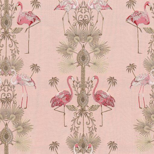 jacquardstof Luxury Flamingo gordijnstof decoratiestof meubelstof stof met flamingo's 1-202530-1102-370