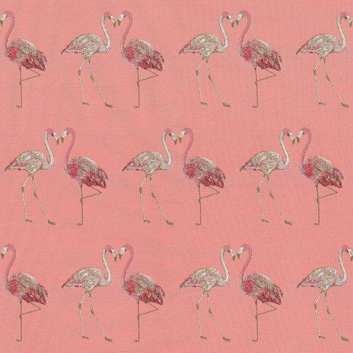 jacquardstof Flamingo Couple meubelstof gordijnstof decoratiestof stof met flamingo1-202530-1104-350
