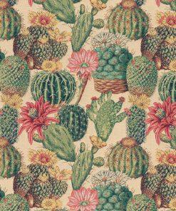 gobelin stof met cactussen decoratiestof gordijntof meubelstof 1-251030-1567-525