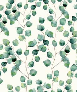 linnenlook printstof stof met ginkgo printstof decoratiestof gordijnstof 1.102530.1144.525