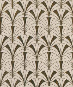 linnenlook Arcade Gold stof met arcadebogen decoratiestof 1-102532-1032-706