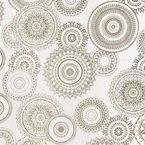 linnenlook Mandala Chique stof met mandala gordijnstof decoratiestof 1.102532.1033.706