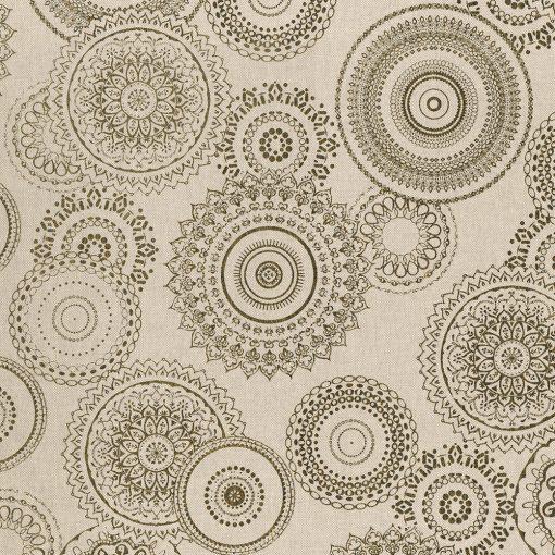 linnenlook Mandala Gold stof met mandala gordijnstof decoratiestof 1.102532.1034.706