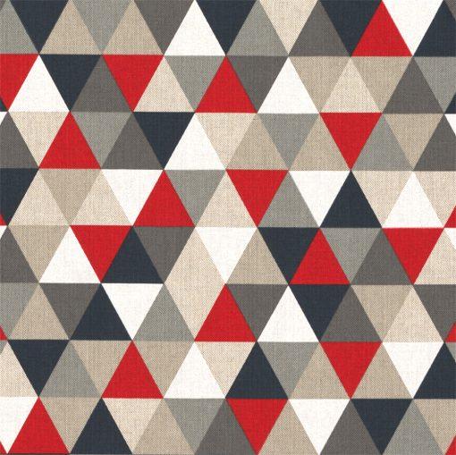 linnenlook Triangle Red stof met driehoeken gordijnstof decoratiestof 1.104530.1793.325