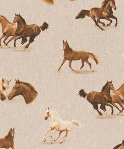linnenlook Wild Horses stof met paarden decoratiestof 1.104530.1797.180