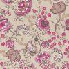 linnenlook Guirlande Fuchsia stof met bloemen decoratiestof 1.104530.1798.385