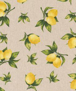 linnenlook Fresh Lemon stof met citroenen decoratiestof 1.104530.1799.220