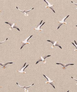 linnenlook Seagulls stof met meeuwen decoratiestof 1.104530.1804.650