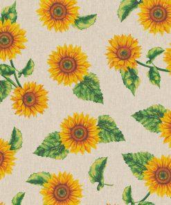 linnenlook Tournesol stof met zonnebloemen decoratiestof 1.104530.1808.230