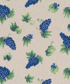 linnenlook Grapes stof met druiven decoratiestof 1.104530.1811.460