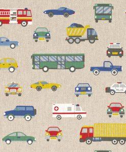 linnenlook Dinky Toys stof met auto's decoratiestof 1.104530.1818.655