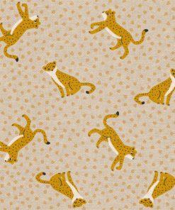linnenlook Leopard Dance stof met luipaard 1.104530.1819.235