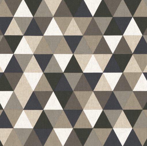 linnenlook Triangle Grey stof met driehoeken gordijnstof decoratiestof 1.104530.1830.650