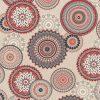 linnenlook Mandala Red stof met mandala gordijnstof decoratiestof 1.104530.1832.325