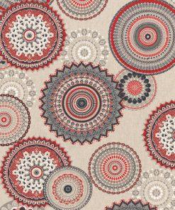 linnenlook grafische printstof gordijnstof decoratiestof 1.104530.1832.325