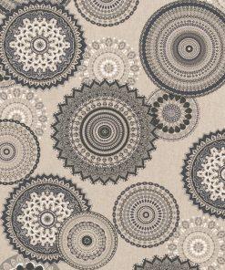 linnenlook grafische printstof gordijnstof decoratiestof 1.104530.1835.650