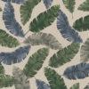 linnenlook stof motief 260 decoratiestof gordijnstof meubelstof printstof stof met bladeren, 1.104530.1848.535