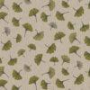 linnenlook Ginkgo Green stof met blaadjesdecoratiestof gordijnstof meubelstof printstof stof met ginkgo, 1.104530.1849.515