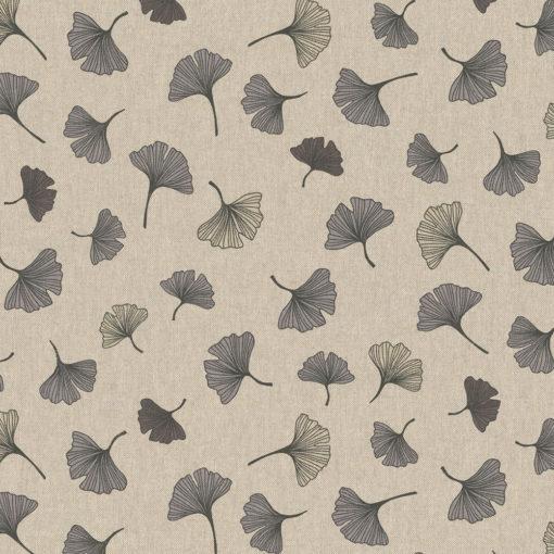 linnenlook stof motief 262 decoratiestof gordijnstof meubelstof printstof stof met ginkgo, 1.104530.1850.575