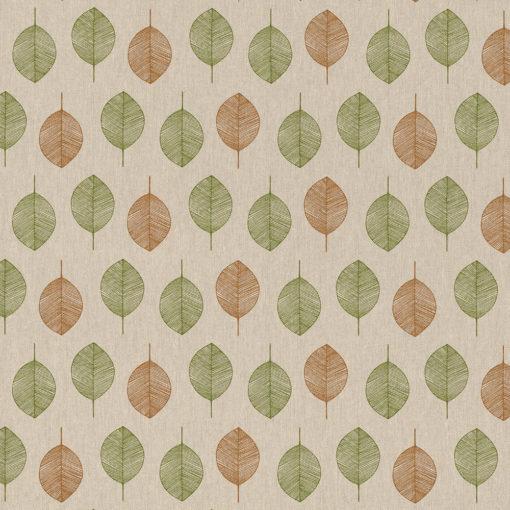linnenlook stof motief 263 decoratiestof gordijnstof meubelstof printstof stof met bladeren, 1.104530.1851.535