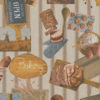 linnenlook stof motief 265 decoratiestof gordijnstof meubelstof printstof stof met brood, 1.104530.1856.165