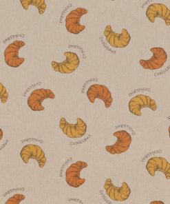 linnenlook stof motief 266 decoratiestof gordijnstof meubelstof printstof stof met croissants, 1.104530.1857.275