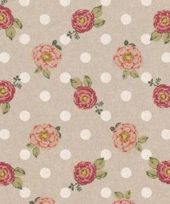 linnenlook bloemenstof motief 273 decoratiestof gordijnstof meubelstof printstof stof met bloemen, 1.104530.1861.355