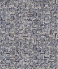 linnenlook Wickerwork stof met vlechtwerk decoratiestof gordijnstof meubelstof printstof stof met grafisch motief, 1.104530.1862.475