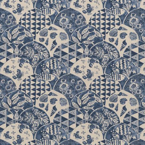 linnenlook grafische printstof stof motief 269 decoratiestof gordijnstof meubelstof printstof stof met fantasiemotief, 1.104530.1863.475