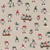 linnenlook kerststof 006 stof met kerstmannen printstof decoratiestof 1.104530.1871.325