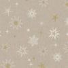 linnenlook stof Kerst 007 Kerststof met sterren printstof ecoratiestof 1.104530.1875.065