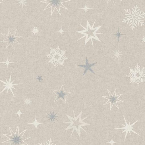 linnenlook stof Kerst 009 Kerststof met sterren printstof ecoratiestof Kerststoffen kopen 1.104530.1877.560