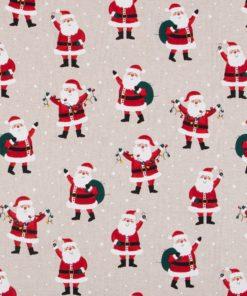 linnenlook kerststof 001 stof met kerstmannen decoratiestof Kerststoffen kopen 1.104530.1884.325
